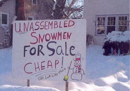 Custom Snowmen